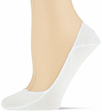 Calvin Klein Women's 2er Pack Baumwoll Fulinge mit Silikon Non-Slip Ferse Schwarz 35/38 Socks