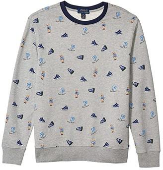 Polo Ralph Lauren Polo Bear Cotton Sweatshirt (Big Kids) (Andover Heather) Boy's Clothing