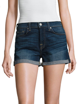 7 For All Mankind Roll Up Denim Short