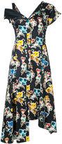 Jason Wu floral asymmetric midi dress