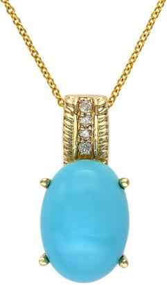 Effy 14K 6.31 Ct. Tw. Diamond & Turquoise Pendant