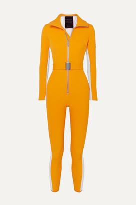 Cordova Striped Ski Suit - Yellow