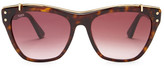Tod's Women's Brow Bridge Acetate Frame Sunglasses