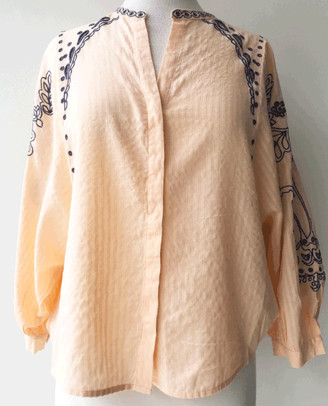Teoh and Lea - Boho Orange Blouse - X Small