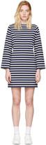 Marc Jacobs Navy and Ecru Breton Stripe Dress