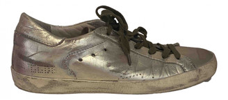Golden Goose Tennis Gold Leather Trainers