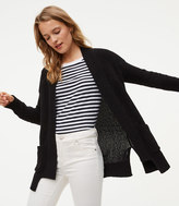 LOFT Textured Pocket Open Cardigan
