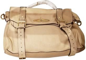 Mulberry Alexa Beige Leather Handbags