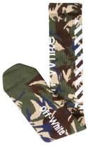 Off-White Diagonal Camouflage Cotton Socks