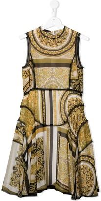 Versace Barocco-print sleeveless dress