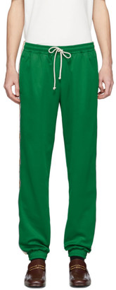 Gucci Green Technical Jersey GG Lounge Pants