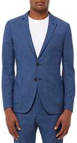 Jaeger Fish Scale Weave Slim Fit Suit Jacket, Blue