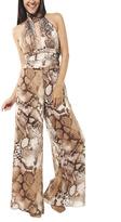 Arden B Leopard Wide Leg Jumpsuit