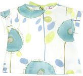 Il Gufo Floral Print Stretch Cotton Poplin Shirt