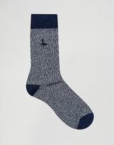 Jack Wills Boot Socks In Navy