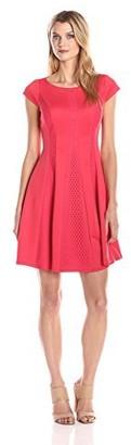 Gabby Skye Women's Cap Sleeve Fit and Flare Dress