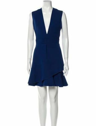Victoria Beckham Wool Mini Dress Wool
