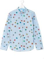 Paul Smith teen cap print shirt - kids - Cotton - 14 yrs
