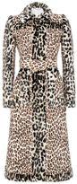 Stella McCartney leopard jacquard bertille coat