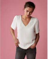 Express satin v-neck blouse