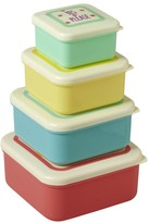 Rice Message Lid Boxes - Set of 4