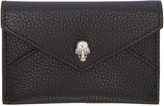Alexander McQueen Black Skull Envelope Card Holder