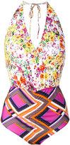 Roseanna Patchwork print swimsuit - women - Polyamide/Spandex/Elastane - 38