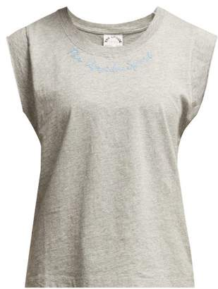 The Upside Logo-embroidered Cotton Tank Top - Womens - Grey