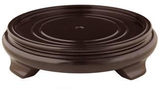 "Oriental Furniture Rosewood Pedestal Stand, 8"" Base Diameter"