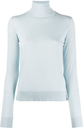 Lanvin Roll-Neck Logo-Embroidered Jumper