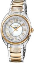 Ferré Milano Women's 34mm Stainless Steel 3-Hand Roman Glitz Watch with Bracelet, Rose/Steel