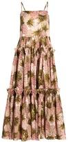 Cara Harbour Island Pineapple Print Midi Flare Dress
