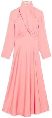 Sandro Long Sleeve High Neck Dress