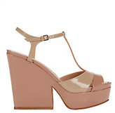 Sergio Rossi Edwig Patent Leather Wedge Sandals