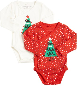 Stella McCartney Kids Set Of 2 Cotton Interlock Bodysuits