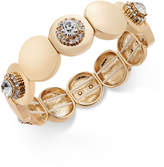 Charter Club Gold-Tone Crystal Stretch Bracelet, Created for Macy's