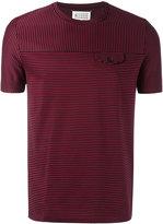 Maison Margiela striped faux pocket T-shirt - men - Cotton - 46