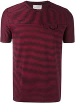 Maison Margiela striped faux pocket T-shirt