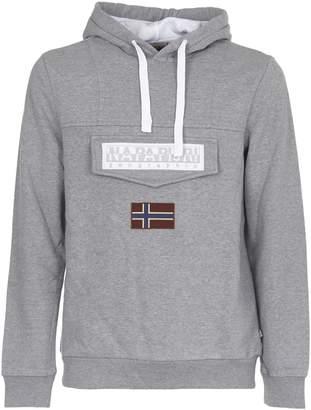 Napapijri Grey Hooded Sweatshirt
