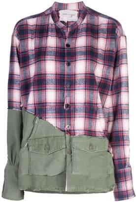 Greg Lauren check panel shirt