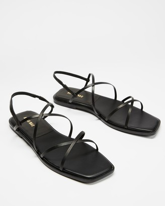 Mae Women's Black Strappy sandals - Tulin - Size 38 at The Iconic