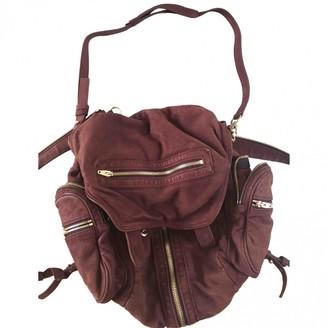 Alexander Wang Marti Purple Leather Backpacks
