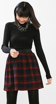 Esprit Flannel skirt + elastic waist, cotton blend