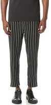 3.1 Phillip Lim Pinstripe Relaxed Tapered & Cropped Sweatpants
