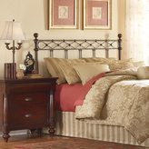Fashion Bed Group Argyle Headboard with Round Finial Posts and Diamond Wire Metal Grill Design