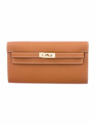 Hermes 2020 Epsom Kelly To Go w/ Tags gold