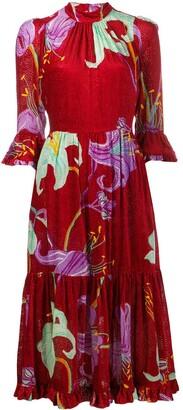 La DoubleJ Velvet Midi Dress