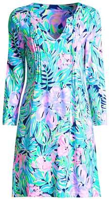 Lilly Pulitzer Aubrey Tropical Floral-Print Shift Dress