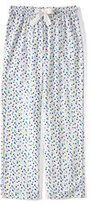 Classic Women's Plus Size Print Flannel Pants-Ivory Multi Dots
