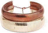 Rosantica Giraffa Set Of Two Gold And Copper-tone Chokers - one size